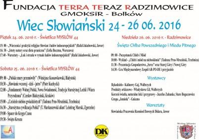 Wiec Słowiański - Plakat A3